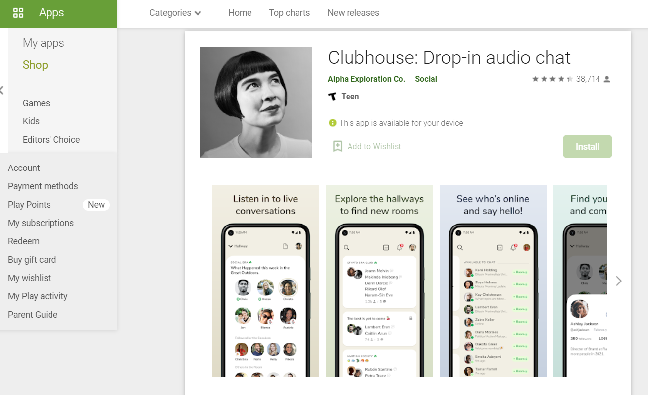 Clubhouse stigao na android